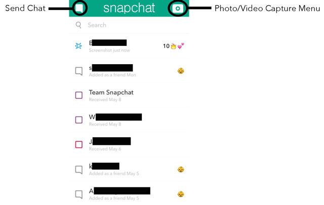 Snapchat Friends Menu