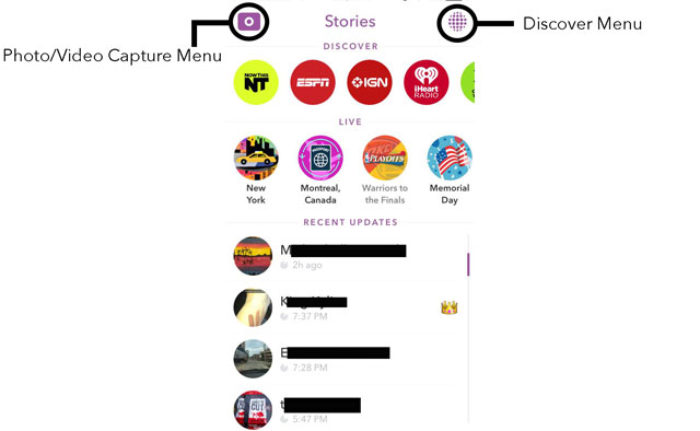 The Stories Menu