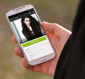Spotify mobile app on Android