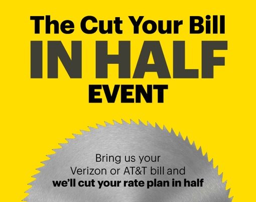 Sprint Cut Your Bill in Half event