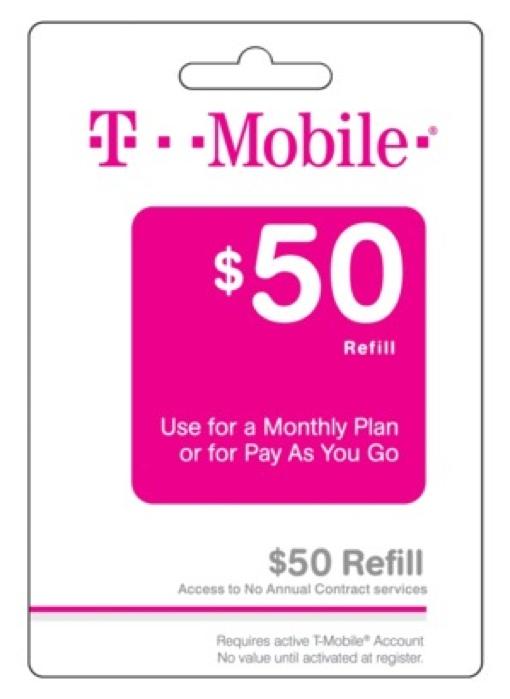 T-Mobile $50 Prepaid Card