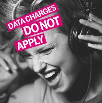 T-Mobile Music Freedom woman wearing headphones