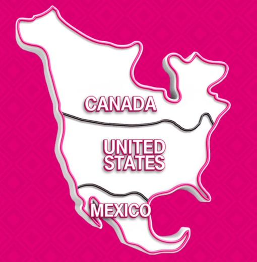 North America T-Mobile Map