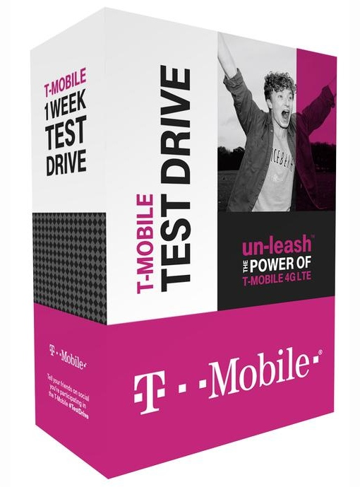 T-Mobile Test Drive box