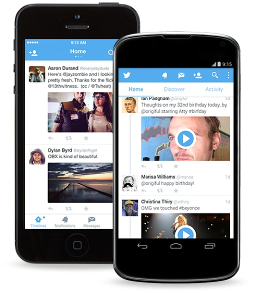 Twitter on mobile devices