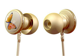 Monster Butterfly by Vivienne Tam In-Ear Headphones