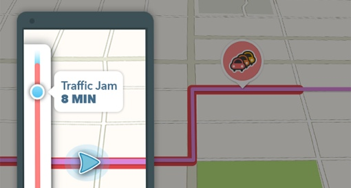Waze traffic jam