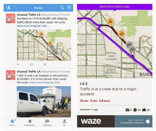 Waze Unusual Traffic screenshots