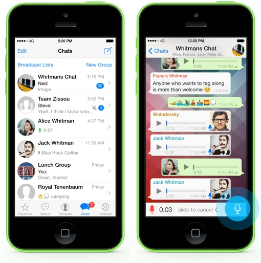 WhatsApp screenshots on iPhones