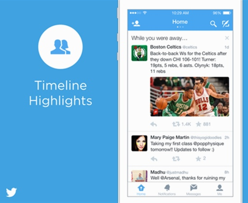 Twitter's new While You Were Away feature