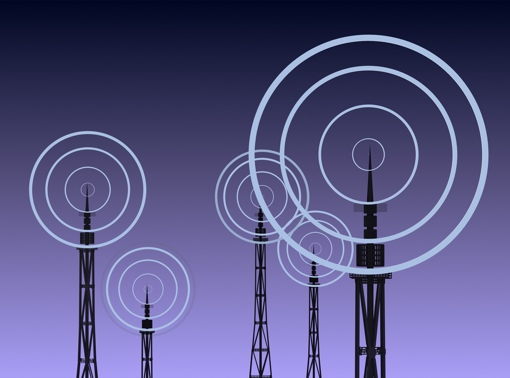 Towers with wireless signal