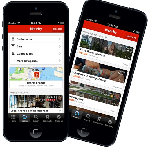Yelp app on iPhones