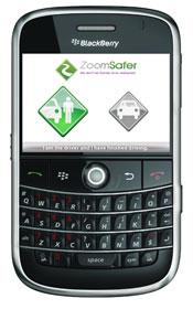ZoomSafer App on Blackberry