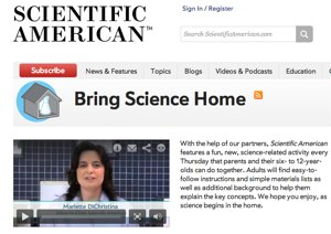 Scientific American Bring Science Home