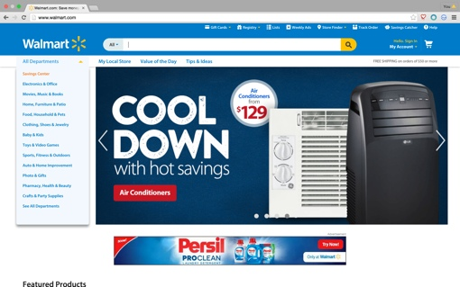 Walmart.com screenshot