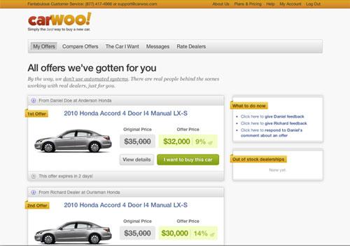 CarWoo offers