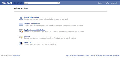 Facebook Applications& Websites