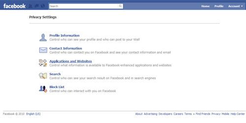 Facebook Applications& Websites